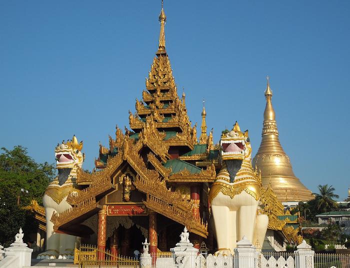 Shwedagon Pagoda entrance - Yangon - Myanmar Travel Essentials Cropped