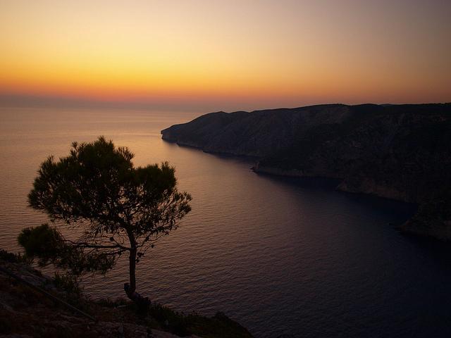 Graybit www.graybit.com - World travel blog family holiday vacation website - Sunset at Shiza Greek Island of Zakynthos