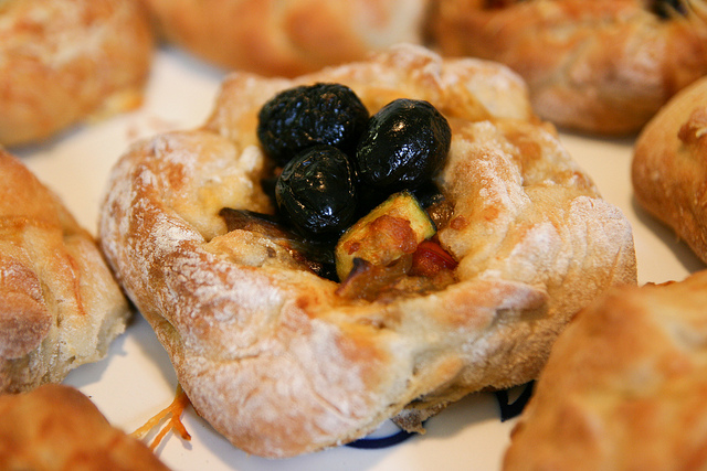Ratatoulli stuffed Fougasse